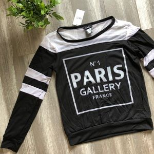 ☀️2/$30☀️Paris Graphic Long Sleeve Top/ Size Small